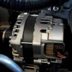 Alternator inside a vehicle